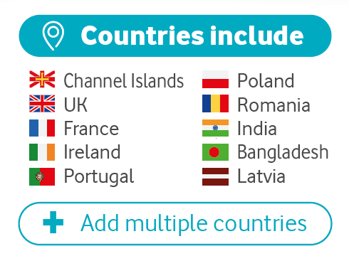 Top-10 countries included in the £6 bolt-on: Channel Islands, UK, France, Ireland, Portugal, Poland, Romania, India, Bangladesh and Latvia