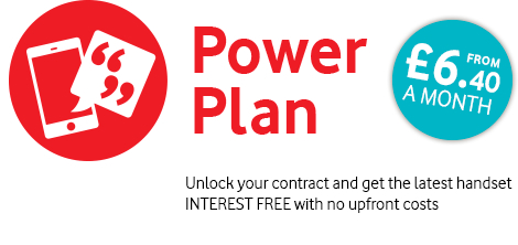 Power Plan from £6.40 a month. Unlock your contract and get the latest handset INTEREST FREE with no upfront costs